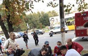Пьяный полицейский сбил людей / Фото: Трибуна Бровари