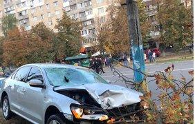 Место аварии в Броварах / Фото: Трибуна Бровары