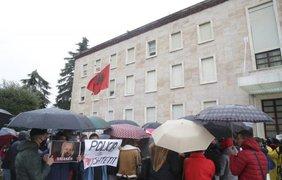Протесты в Албании/ Фото: rbc.ua