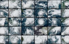 Все ураганы и тропические штормы, образовавшиеся в 2020 году