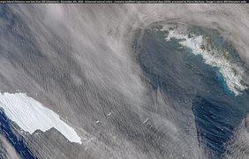 Гигантский айсберг A68a приближается к острову Южная Георгия 4 декабря 2020 года