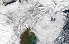 Огромный ураган над северо-востоком США 17 декабря 2020 года