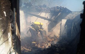В Кировоградской области при пожаре погибли дети/ Фото: ГСЧС Украины