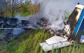 В Днепропетровской области упал самолет/ Фото: ГСЧС Украины