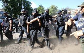 Потасовка под Радой / Фото: РБК Украина