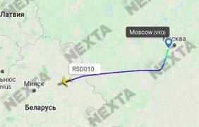 В Беларуси приземлился самолет ФСБ России/ Фото: скриншоты с Radarbox, Flightradar