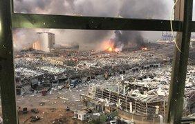 """Взрывы в Бейруте/ Фото: """"Украина Сейчас"""""""