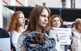 В Минске проходит акция в поддержку Колесниковой/ Фото: tut.by