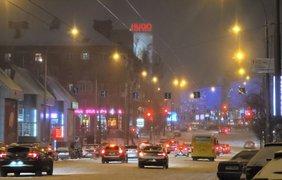 """Снегопад в Киеве/ Фото: """"Подробности"""""""