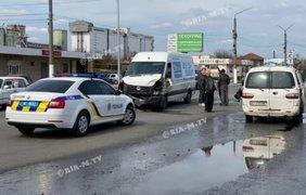 ДТП в Мелитополе/ Фото: golos.zp.ua