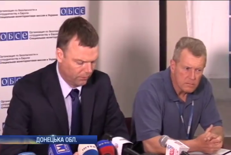ОБСЄ зафіксувала залпи артилерії терористів поблизу Широкиного