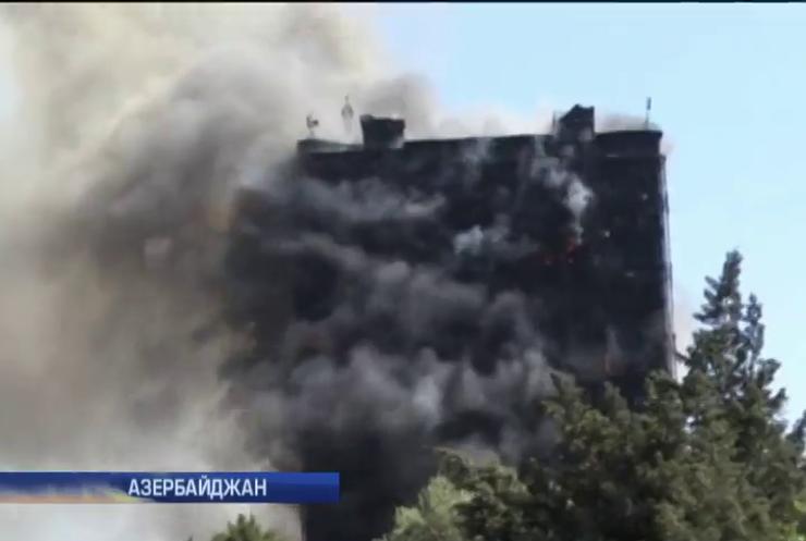 Причиной пожара в Баку могли быть некачественные стройматериалы