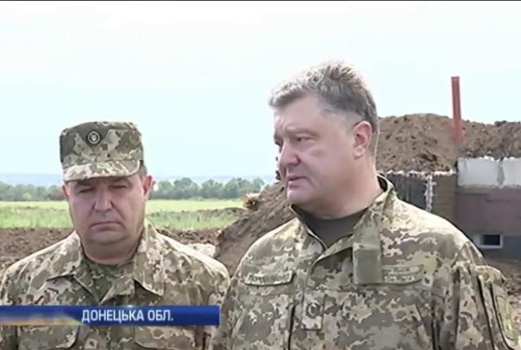 Порошенко обіцяє до серпня запустити дві лінії оборони