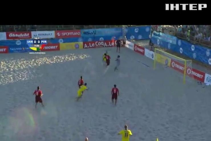 Українці завоювали срібло у пляжному футболі в Естонії