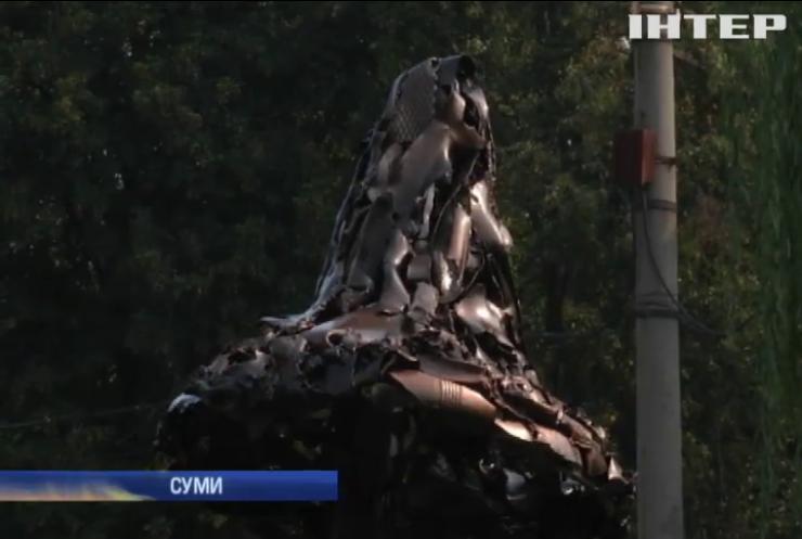 У Сумах встановили пам'ятник загиблим в АТО артилеристам