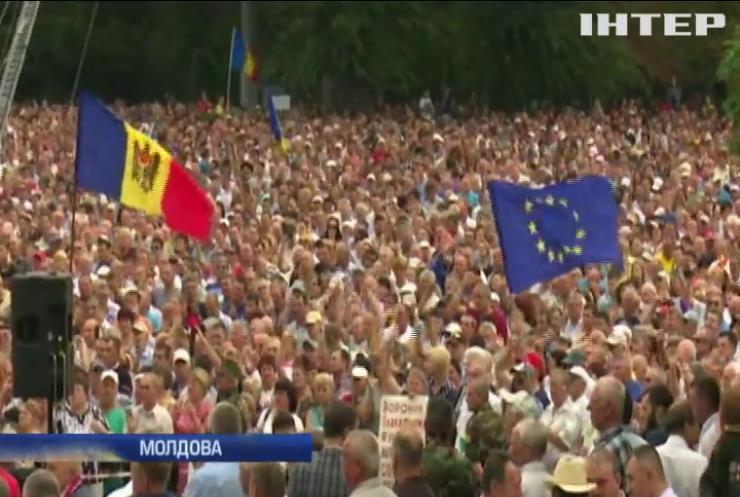 Прем'єр Молдови відмовився спілкуватися з демонстрантами