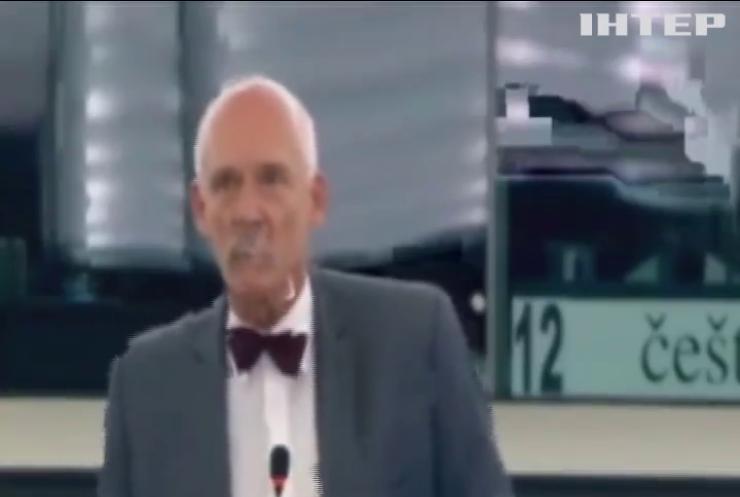 Двох євродепутатів покарали за непристойну поведінку в парламенті