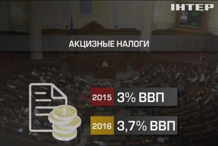 Бюджет в 2016 году пополнят за счет поднятия акцизов