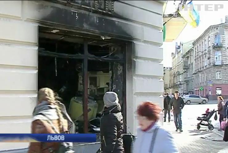 Во Львове в поджогах банков обвиняют иностранных провокаторов