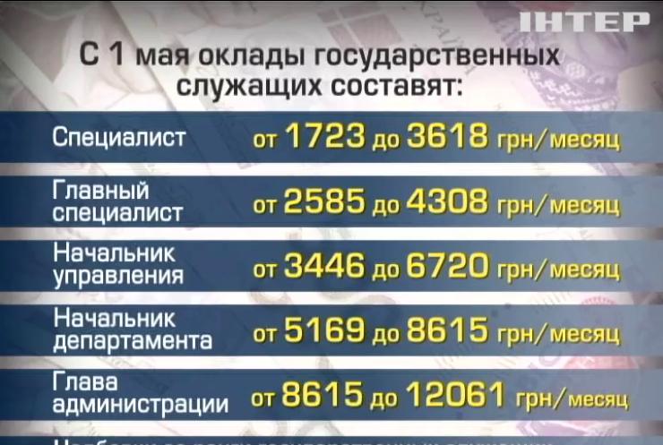 Яценюк перед уходом вдвое повысил зарплаты чиновникам