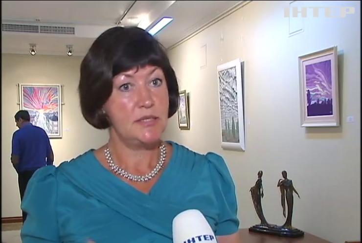 Ирина Акимова открыла выставку своих картин | podrobnosti.ua