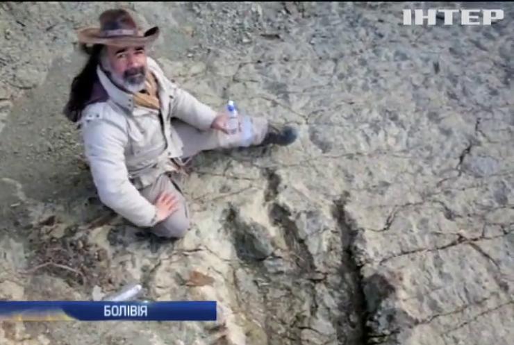 У Болівії знайшли гігантський слід динозавра
