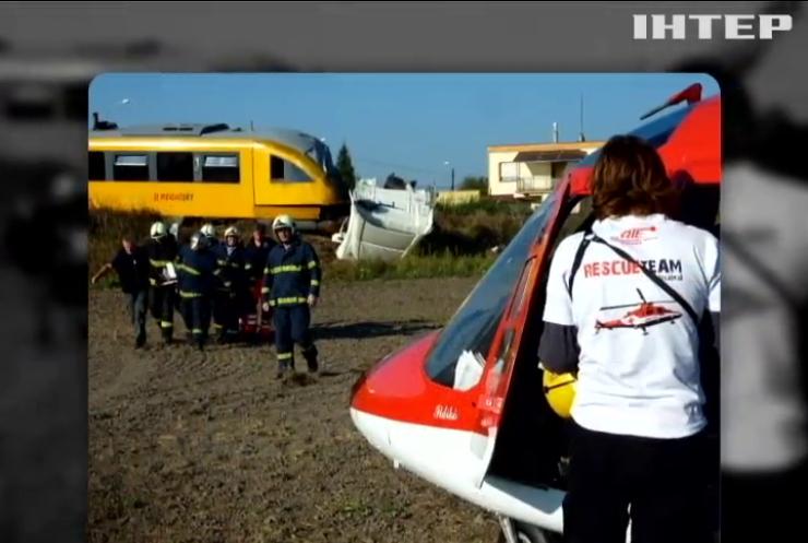 У Словаччині потяг збив вантажівку