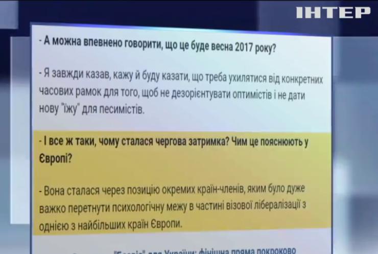 ЕС задерживает безвизовый режим для украинцев из-за позиции Франции