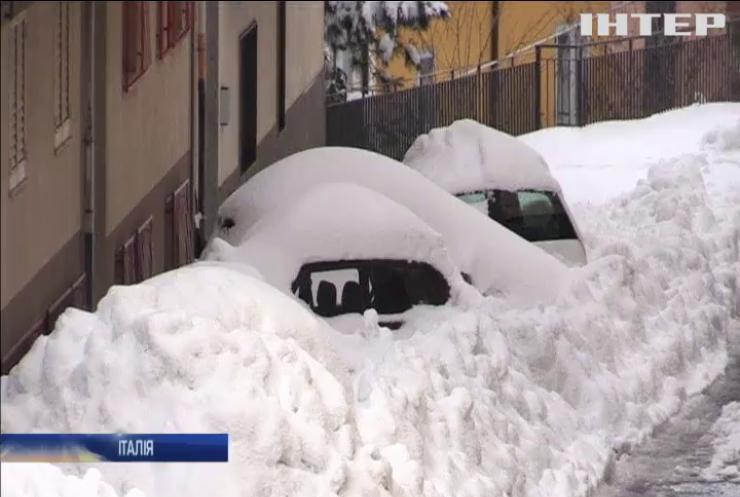 В Сицилії 10 тисяч жителів опинилися у сніговому полоні