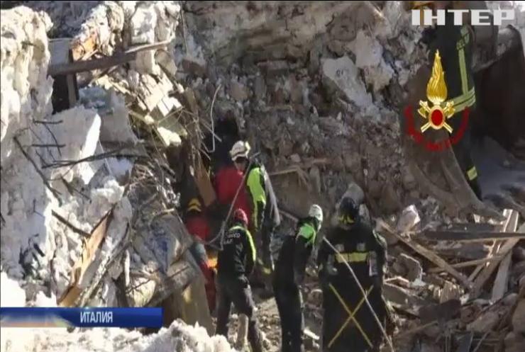 В Италии завершили поисковую операцию на месте заваленного отеля
