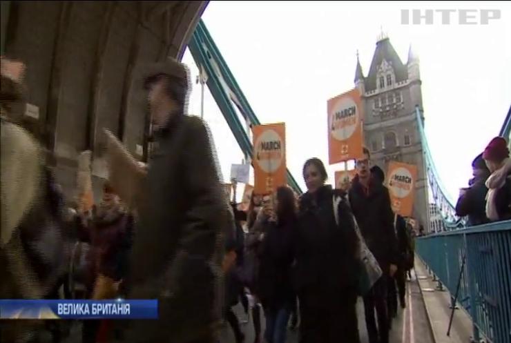 8 березня: у Лондоні тисячі людей вийшли на марш