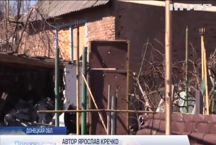 На Донбассе боевики ведут огонь по мирным жителям
