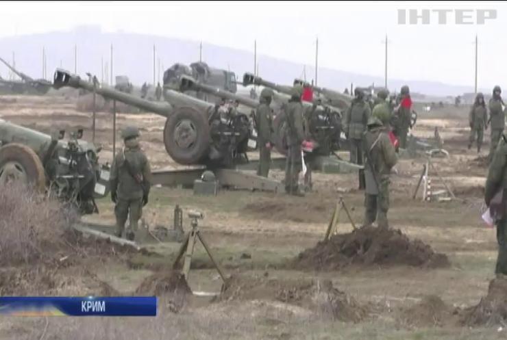 У Криму окупанти проводять масштабні військові навчання