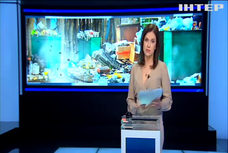 Львовский мусор пытались сбросить возле детского лагеря (видео)