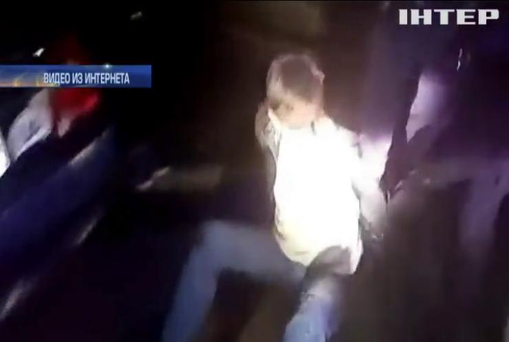 Экс-сотрудника МВД поймали пьяным за рулем (видео)