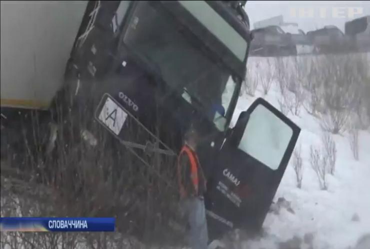 У Словаччині зіштовхнулися 40 автівок