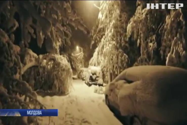 У Молдові оголосили надзвичайний стан через снігопад