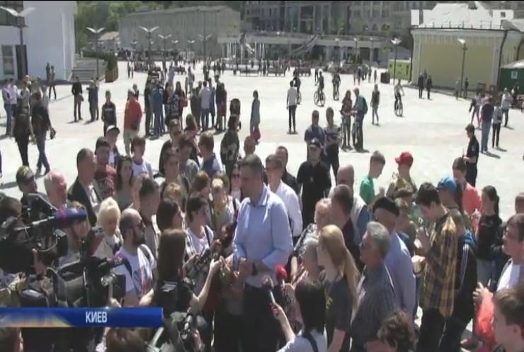 Евровидение-2017: Кличко открыл фанзону на Почтовой площади