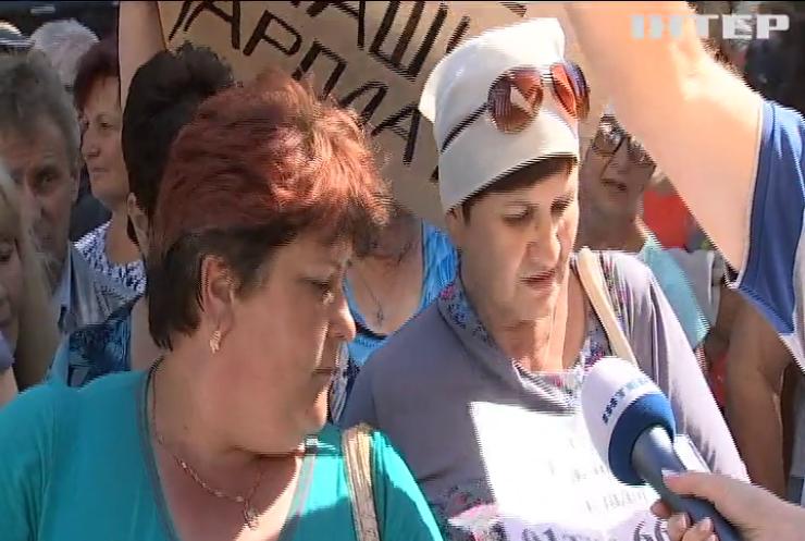 Под Кабмином митингуют николаевские судостроители