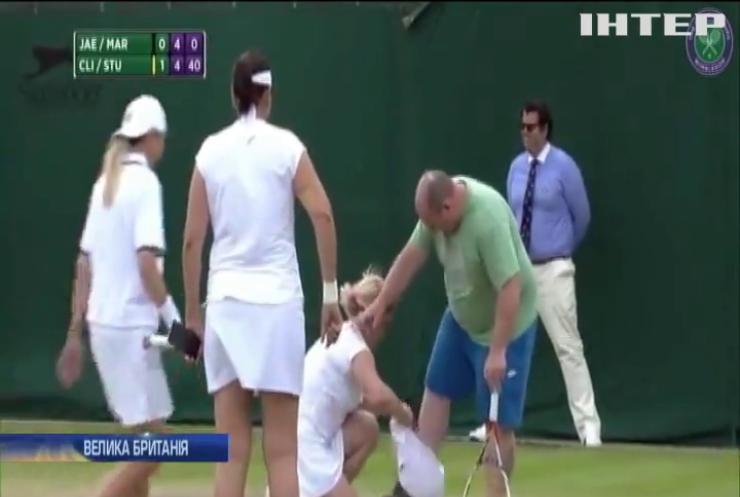 Тенісистки на Вімблдоні змусили глядача вийти на корт