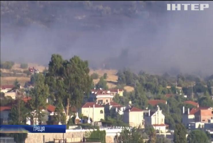 Передмістя Афін охопили лісові пожежі