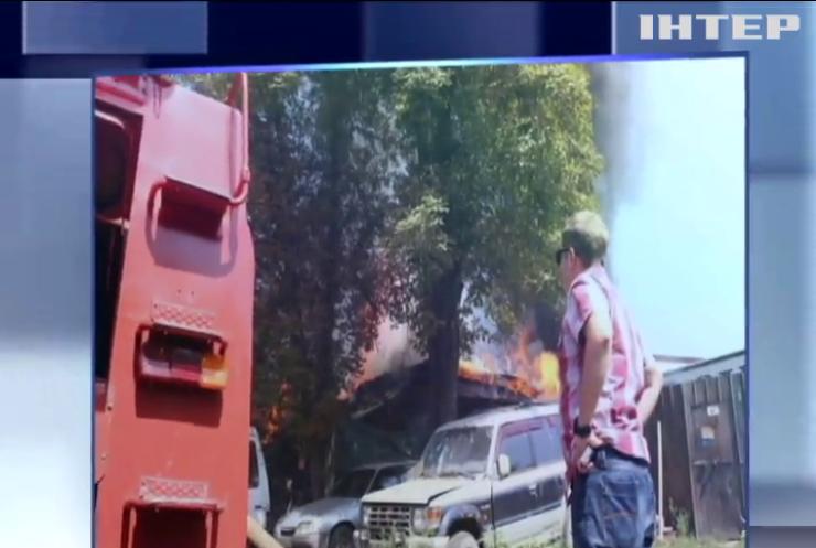 В Харькове загорелся жилой дом (фото)