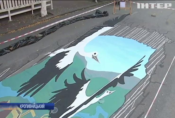 В Кропивницькому створили 3D малюнок