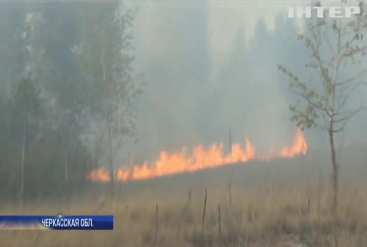 На Черкащине спасатели не могут справиться с пожарами