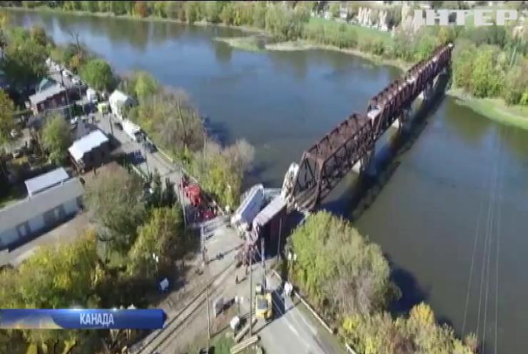В Канаді вітер здув з рейок потяг з небезпечними речовинами (відео)