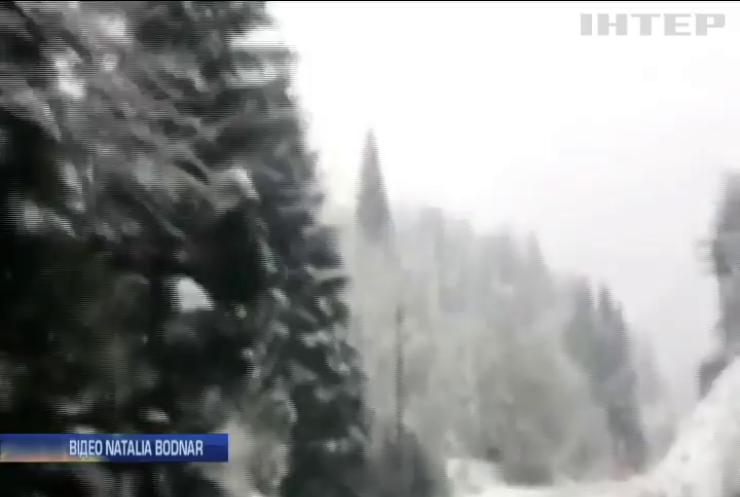 На Закарпатті через негоду та сніг знеструмлено десяток сіл