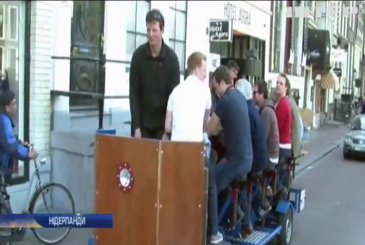 """У Амстердамі заборонили """"пивні велосипеди"""""""