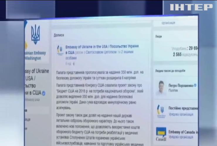 У США погодили виділення Україні 350 мільйонів доларів