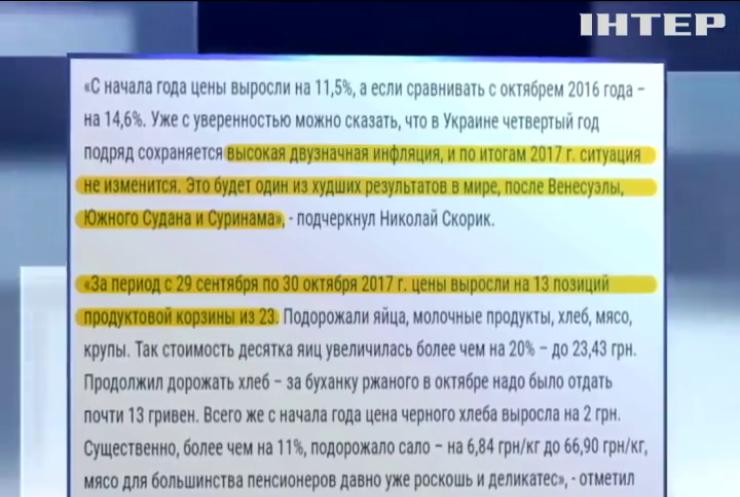 """""""Оппозиционный блок"""" назвал причину высокой инфляции"""