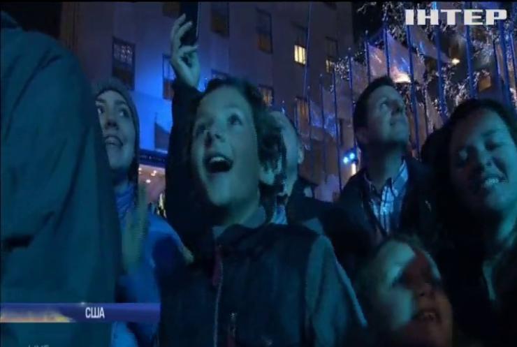 У Нью-Йорку засяяла вогнями головна ялинка США (відео)